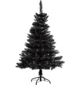 Black artificial Christmas tree Premium quality - H 150 cm - Blooming collection - Christmas tree-