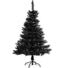 Zwarte kunstkerstboom Premium kwaliteit - H 150 cm - Blooming collectie - Kerstboom-