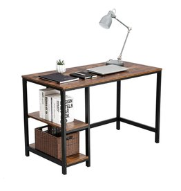 EKEO - Bureau met vintage Look - Computertafel - Vintage - Zwart   Bruin