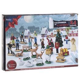 Adventskalender Kerst 2021 - Kerstdorp accessoires en decoratie - 24 Cadeaus