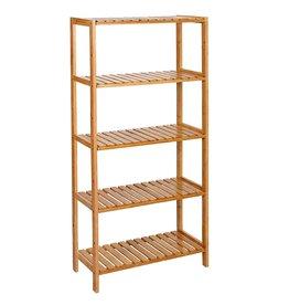 Parya Home Bathroom Rack with 5 shelves - Bamboo  -