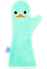 Invented4kids Baby shower glove | Eendje groen