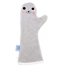 Invented4kids Baby shower glove | Zeehond grijs