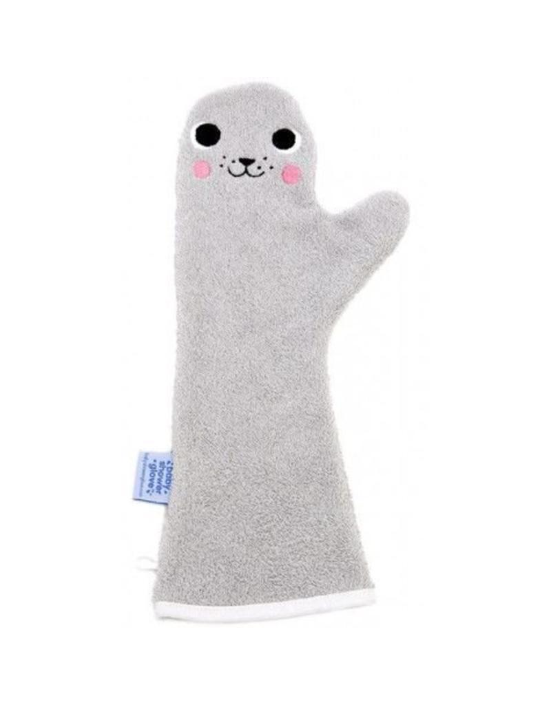 Invented4kids Baby shower glove   Zeehond grijs