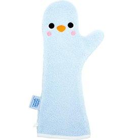 Invented4kids Baby shower glove | Pinguïn blauw