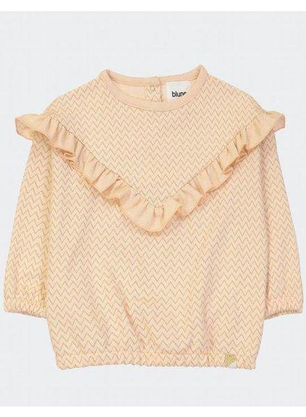 Blune Wonderful sweatshirt abrikoos | Chevrons Lurex