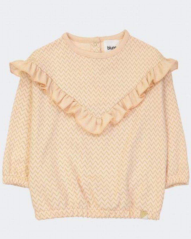 Wonderful sweatshirt abrikoos | Chevrons Lurex