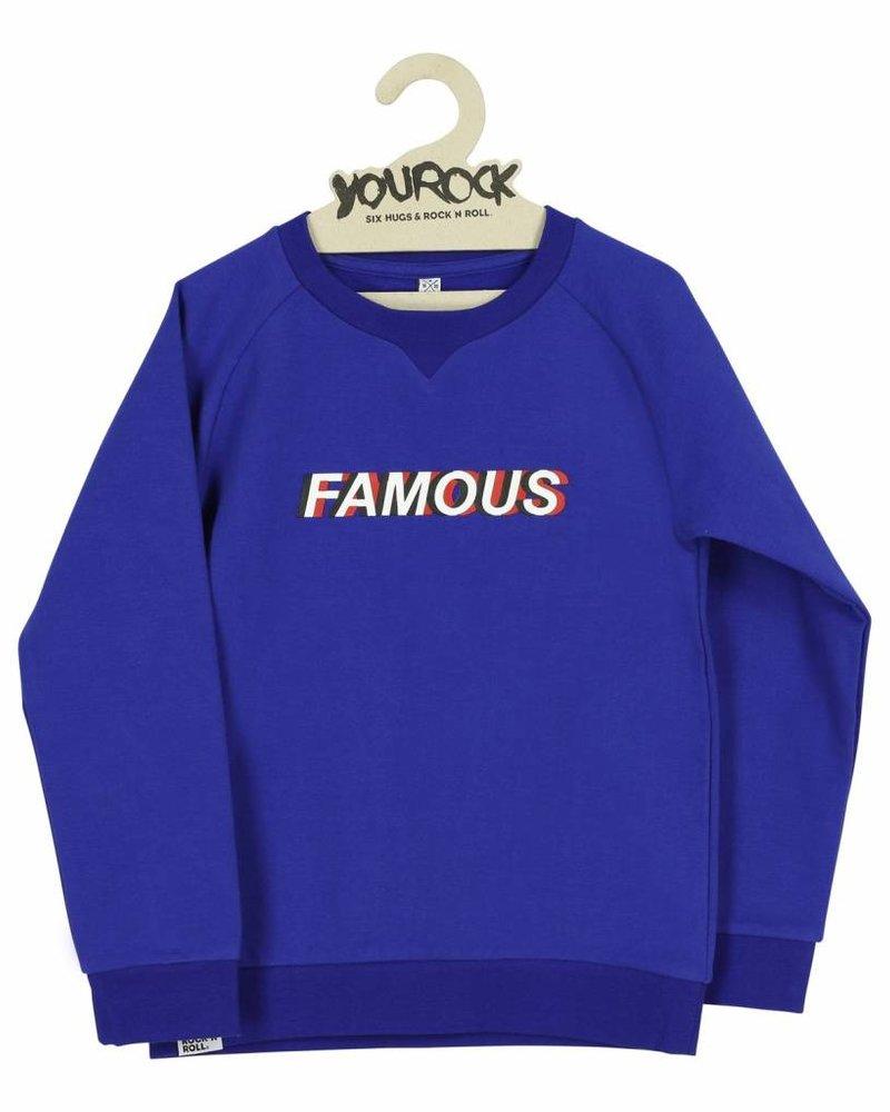 Six Hugs & Rock 'n Roll Sweater   Famous   Konginsblauw