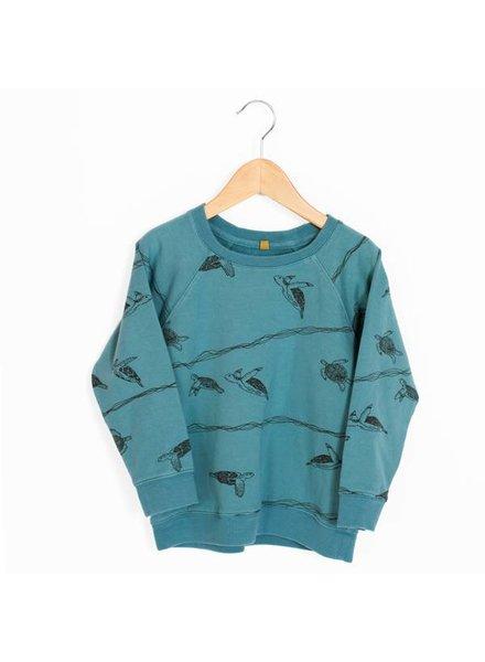 Lötiekids Sweater Turtles   Whale Blue