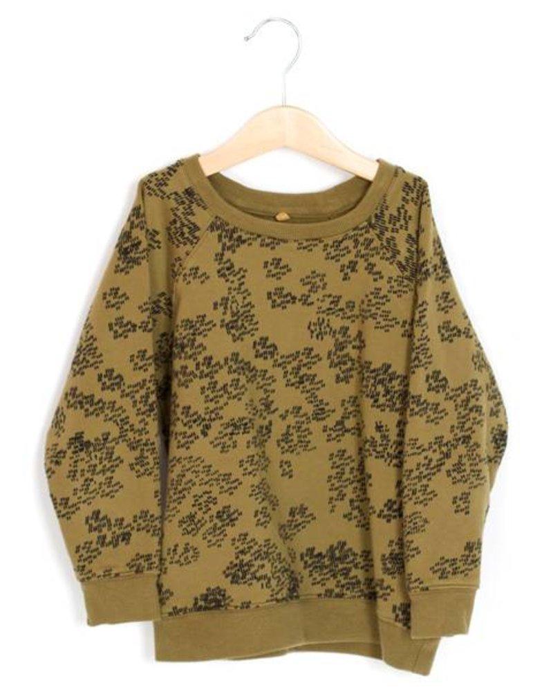 Sweater Rainprint | Kaki