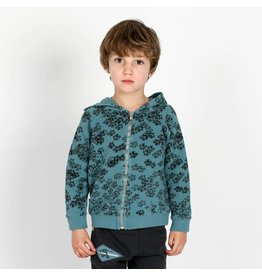 Lötiekids Hoodie rainprint | Whale Blue