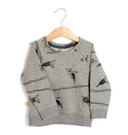 Lötiekids Sweater Turtles | Grey Melange