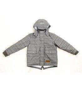 Lea & Jojo Fijn gestreepte winterjas | 100% gerecycleerde materialen