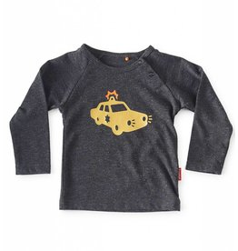Tapete Baby T-Shirt | Cop | Antraciet Spikkel