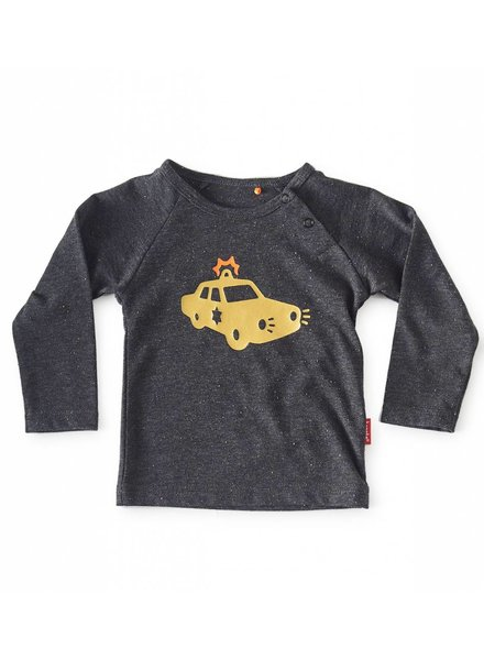 Tapete Baby T-Shirt | Cop | Antraciet Spikkel
