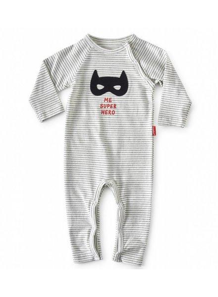 Tapete Babypakje | Superhero | Off-White gestreept