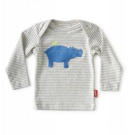 Tapete Baby T-Shirt | Hippo | Off-White gestreept