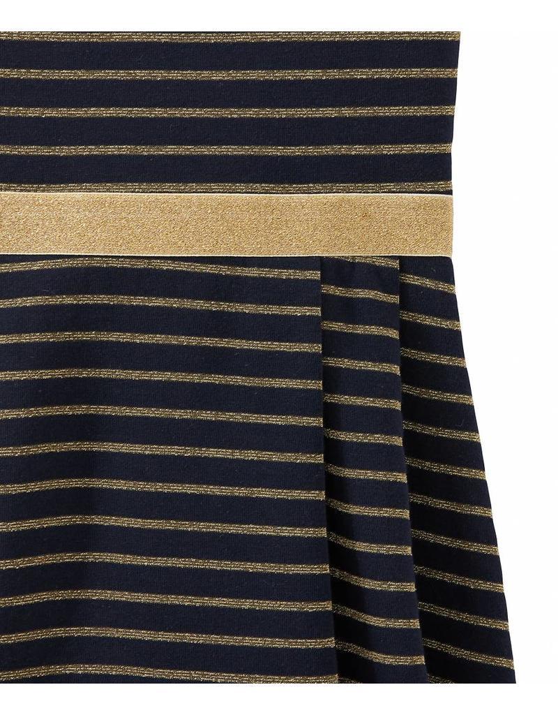 a4ec14061886d0 ... Petit Bateau Feestelijke jurk met gouden streepjes