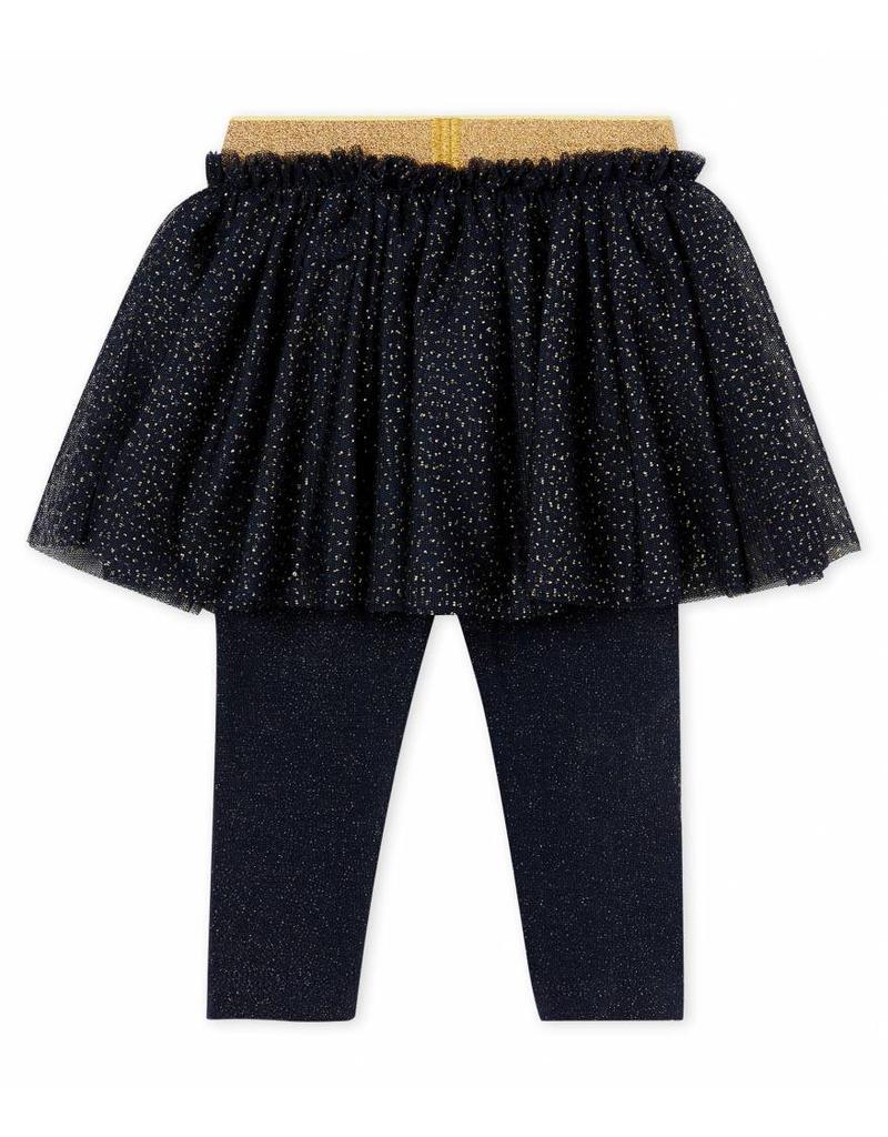 Petit Bateau Feestelijke rok met legging voor babymeisjes