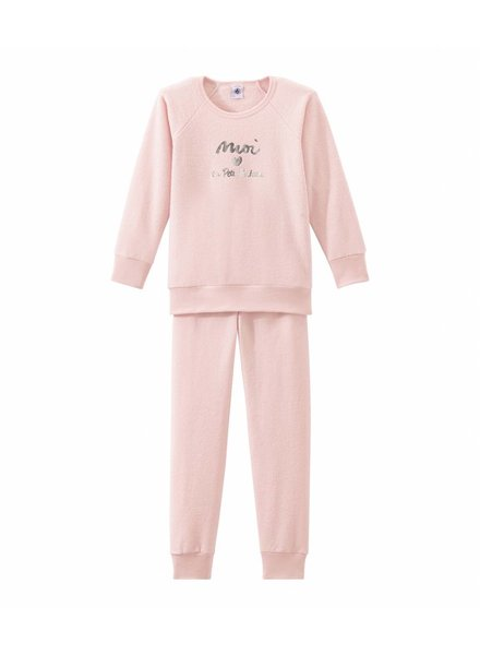 Petit Bateau Pyjama in bouclé badstof voor meisjes