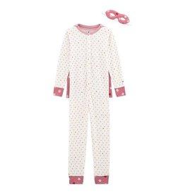 Petit Bateau onesie pyjama met heldencape voor meisjes