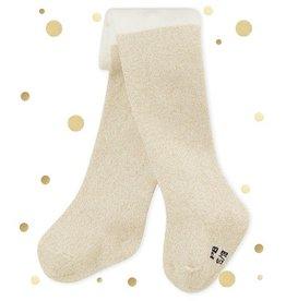 Petit Bateau off-white kousenbroek met glitters voor babymeisjes