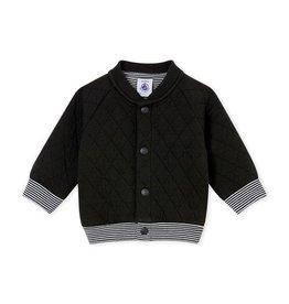 Petit Bateau vest in doorgestikte tubic voor babyjongens