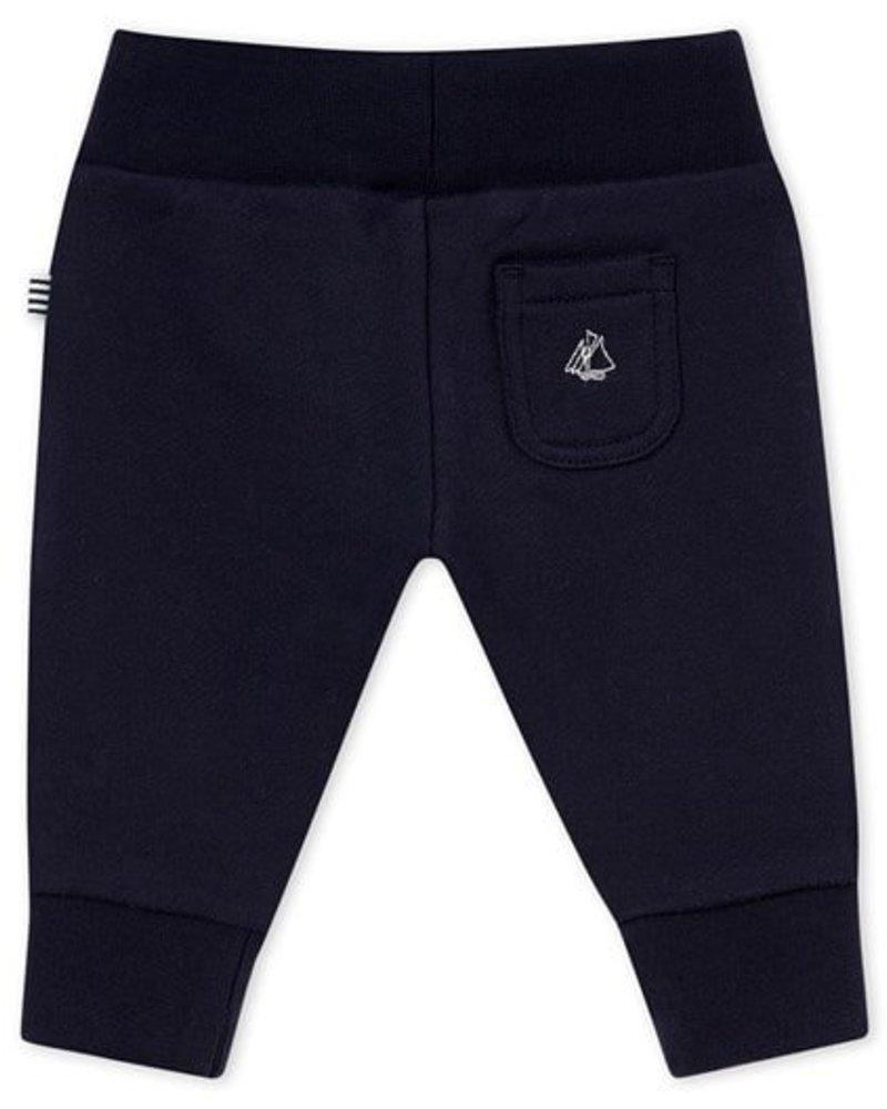 Petit Bateau broek in zachte molton voor babyjongens