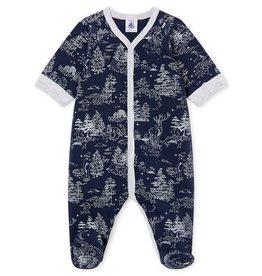 Petit Bateau pyjama voor babyjongens in tubic