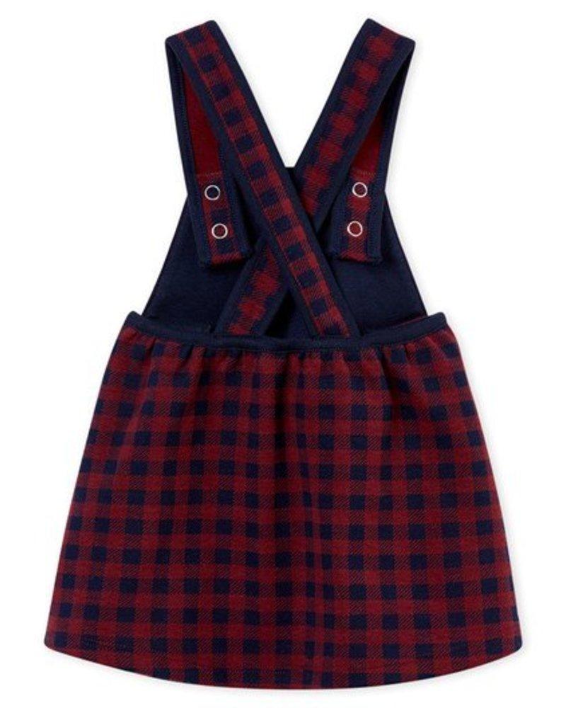 Petit Bateau jurk met vichyruitjes voor babymeisjes