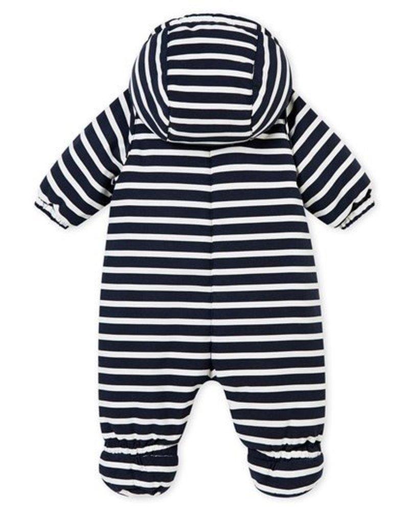 Petit Bateau marinegestreept pilootpakje in microvezel voor babyjongens