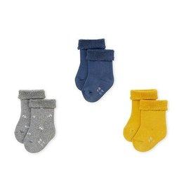 Petit Bateau set van 3 paar uniseks sokken