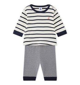 Petit Bateau 2-delige gestreepte pyjama