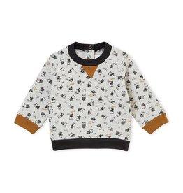 Petit Bateau sweater met dessin voor babyjongens