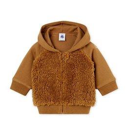 Petit Bateau hoodie in sherpa voor baby's