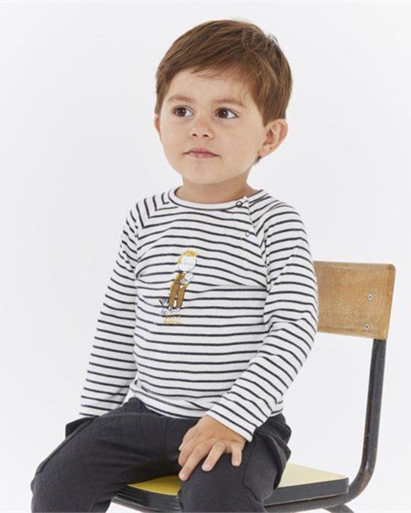 Petit Bateau gestreept tee-shirt voor babyjongens
