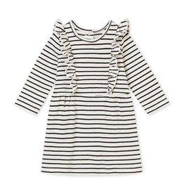 Petit Bateau marinegestreepte jurk voor babymeisjes