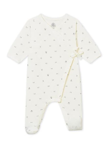 Petit Bateau uniseks babypyjama met gekruiste sluiting