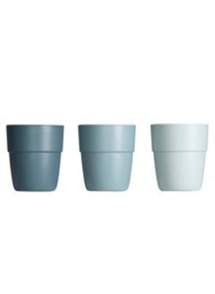 Done by Deer Yummy mini beker | 3-pack | blauw