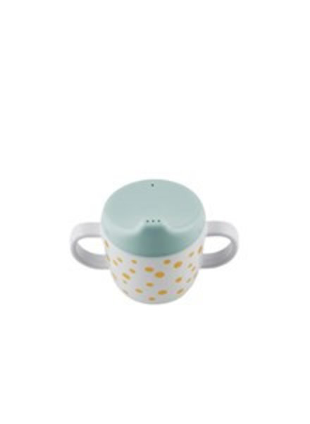 Done by Deer Dots 2 handle Spout cup |  blauw