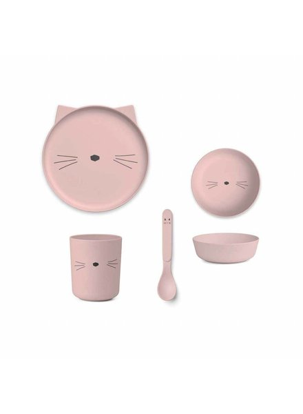 Liewood Bamboe Eetset | Rose | Cat