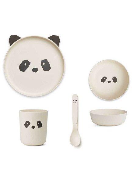 Liewood Bamboe Eetset | Crème de la crème | Panda