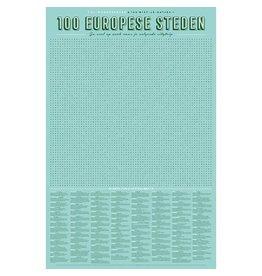 Stratier ™ XL Spelposter | 100 Europese steden