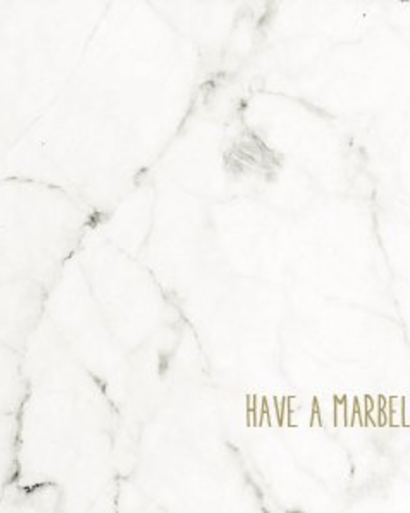 Letterpress kaart met enveloppe | have a marbelous day