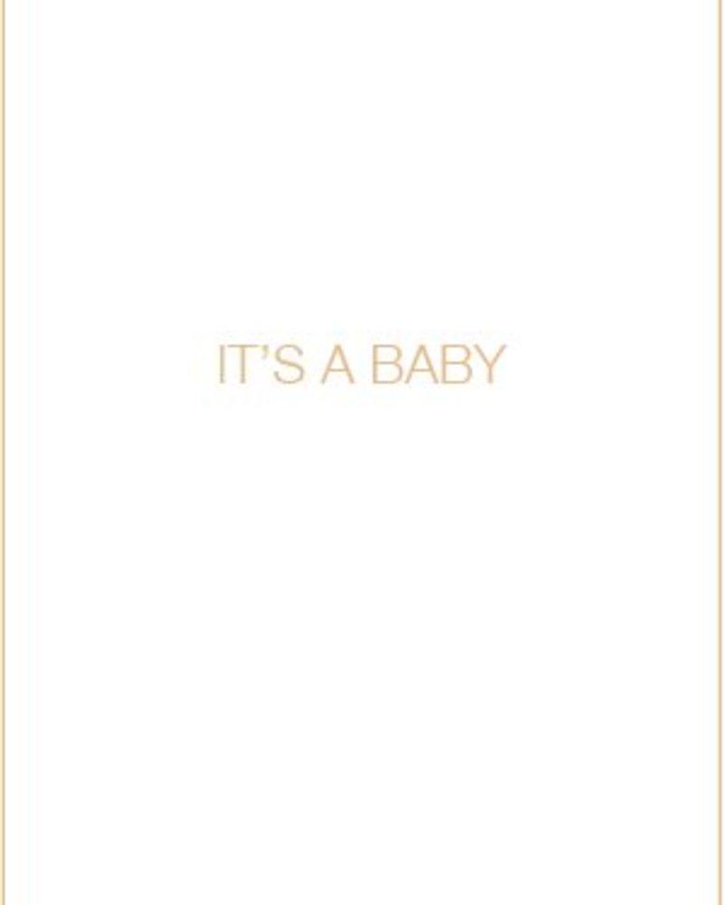 Letterpress kaart met enveloppe | it's a baby