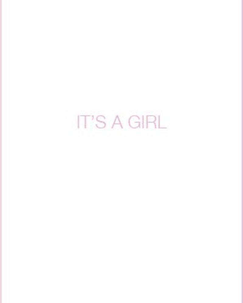 Letterpress kaart met enveloppe | it's a girl