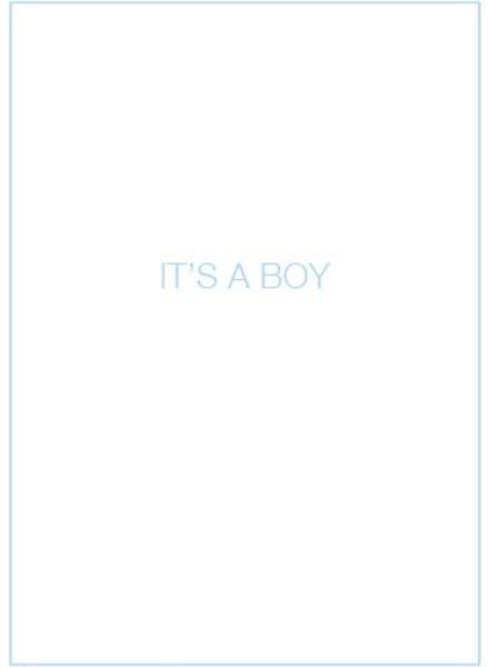 Uitgelijnd Letterpress kaart met enveloppe | it's a boy