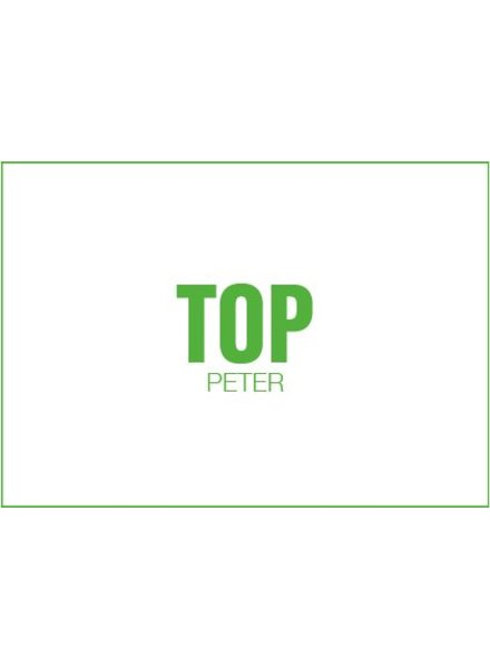 Uitgelijnd Letterpress kaart met enveloppe | top peter