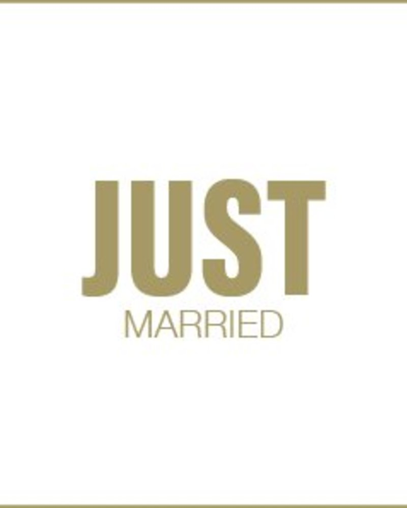 Letterpress kaart met enveloppe | just married