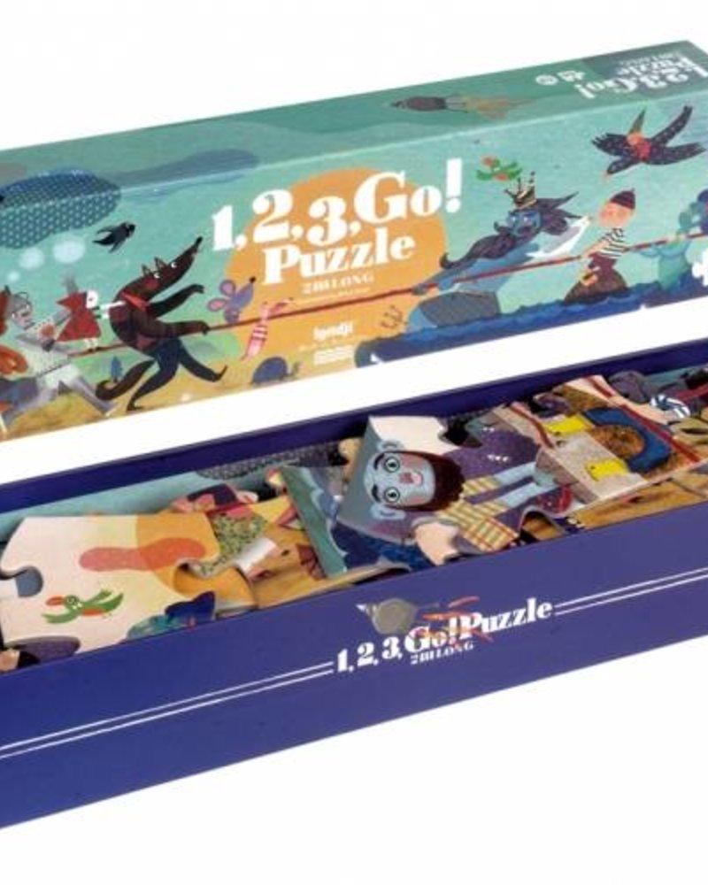 Londji 1, 2, 3, GO! | Puzzel